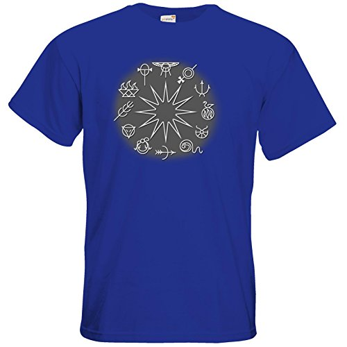 getshirts - Das Schwarze Auge - T-Shirt - Götter - Symbole - Zwölfgötterkreis Royal Blue