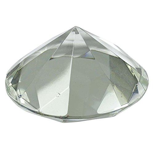 Crystal Clear Glaspapiergewicht Riesen-Diamant-Form Cut Hochzeit Ornament Geschenk