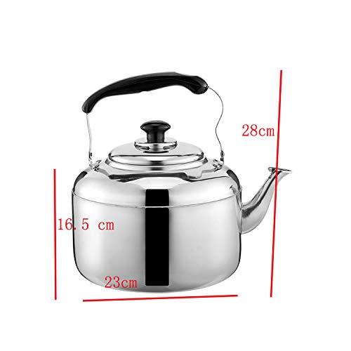 304 Edelstahl-Tee-Topf Kaffee Kalter Ton Wasser-Topf Kessel große Kapazitäts-Home Küche Tee Wasser Brennen Werkzeug,6L Glas Serveware