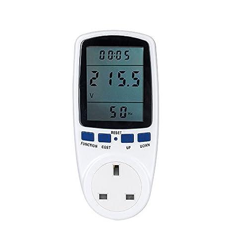 Senweit Digital LCD UK Plug Power Meter Energy Monitor Wattage