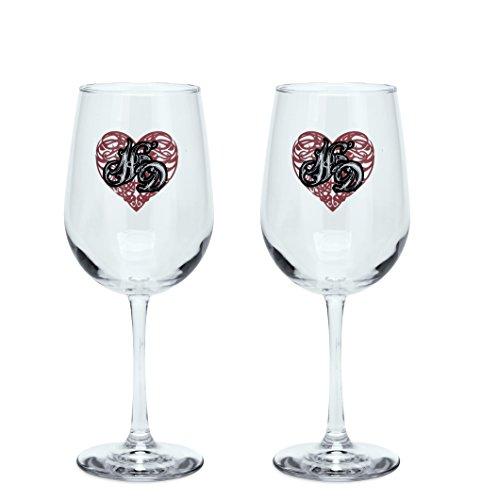 Harley-Davidson Scroll Heart Wine Glasses Set - 96864-16V