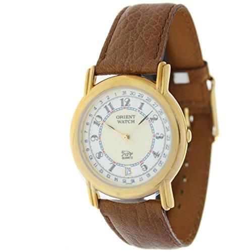 Orient Watch B-67rk-5-3 Reloj Analogico Unisex Caja De Dorado Esfera Color Beige