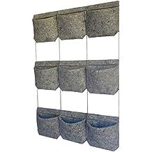 Vertiflor V159 - Huerto vertical para 9 plantas, 100 x 71 x 4 cm, color Gris jaspeado
