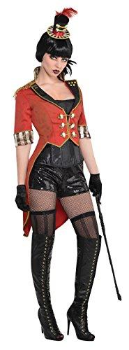 Halloweenia - Damen Zirkus Dresseurin Kostüm, Rot, One (Einfach Zirkus Kostüme)