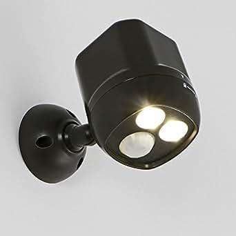 Eclairage LED Murale Sans Fil à Détecteur de Mouvement, iSolem Lampe Extérieur Imperméable Spotlight pour Garage Jardin Terrasse Patio (300 lumens,étanchéité IP65,Portée 7,6m,120 Degrés Capteur)