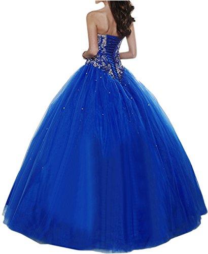 Gorgeous Bride Elegant Herzform Lang A-Linie Ballon Tuell Satin Abendkleider Festkleid Ballkleid Gelb-Gruen