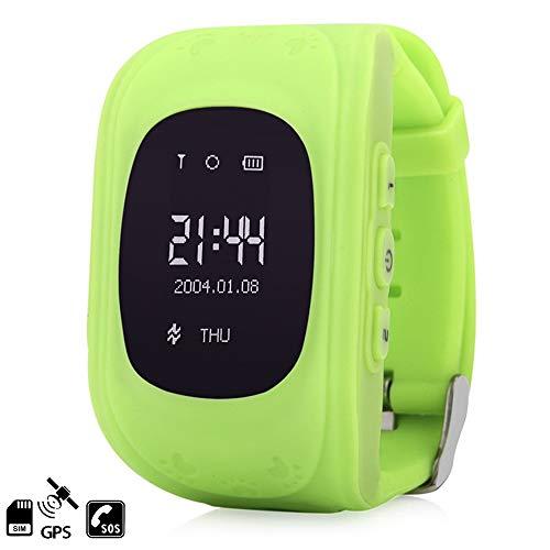 DAM TEKKIWEAR. DMW007GRN. Smartwatch GPS Q50 Especial para Niños, con Función De Rastreo, Llamadas Sos Y Recepción De Llamada. Especial para Niños, Función De Rastreo. Llamadas Sos 3 Nº. Verde