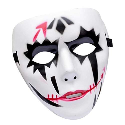 Lorenory Ghost Dance Street Dance Maskerade Halloween Maske Clown Grimasse Erwachsene handbemalte Maske Tänzerin Maske (Color : Gray)