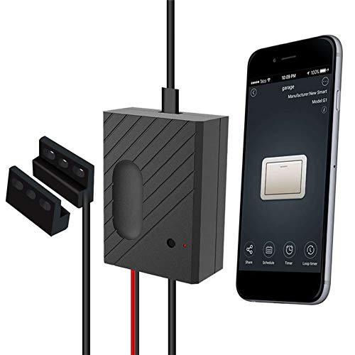 QIQEWZ WiFi Smart Switch Garagentoröffner Smartphone-Fernbedienung Timer Stimmen Kontrolle Kompatibel mit Amazon Alexa und für Google Home IFTTT Garagentorsteuerung Torantriebe Empfänger