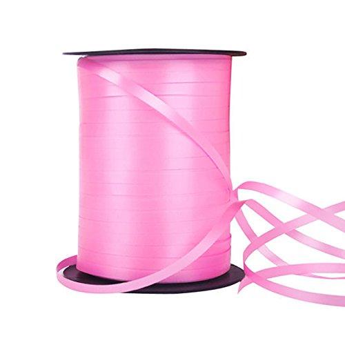 xbwwt 500Meter Saiten Geschenkpapier Bänder Ballon Kräuselband/Ballonband, Hochzeit Geburtstag Craft Party Decor, plastik, rose, 220...