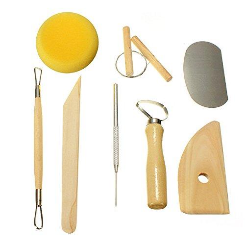 Bazaar Keramik Tool Kit 8Wachs Clay Sculpture Carving Tools (Clay Sculpture Kit)