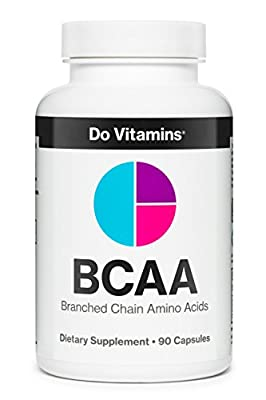 Do Vitamins Natural Vegan BCAA Capsules - Pure Plant Based Essential Branched Chain Amino Acids Supplement for Bodybuilding Pre Workout & Post Workout Muscle Recovery, 2:1:1 2100mg 90ct by Do Vitamins