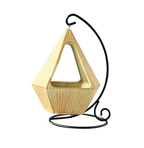 Plante Hanger Fleur Pot Plante En Céramique Fer En Métal Suspendus Plante Support Rack Pour Intérieur Décorations En Plein Air