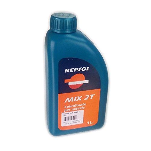 Repsol MIX 2T 1lt olio minerale per miscela 2 tempi moto motocicletta scooter - cartone da 24pz