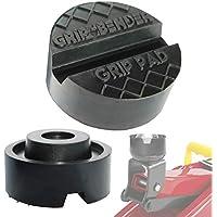 GRIP&BENDER Wagenheber-Auflage Premium Rangierwagenheber-Pad - Gummi-Puffer - ✔Universal-Gummi-Auflage ✔Super Stark ✔max 3,5t ✔Schützt Ihren Wagen Dank Hightech-Material ✔Sicherer Halt Dank V-Nut