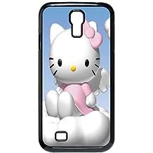 S9W12 Hello Kitty E7N6IM funda Samsung Galaxy S4 9500 funda caja del teléfono celular cubre II1QBO1VU negro