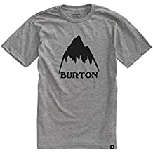 Burton Classic Mountain High Shortsleeve Camiseta, Hombre, Gray Heather, S