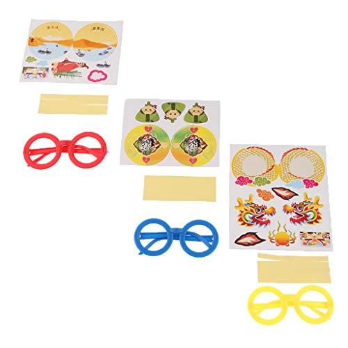 sharprepublic Cartoon Brille Dekoration Für Kinder Kostüm Party Supplies Kit - B091 (Cartoon Charakter Kostüm Für Partys)