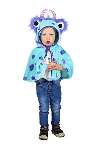 Monster Kostüm Kind - Wilbers Kinder Kostüm Monster Umhang mit Kapuze Karneval Fasching