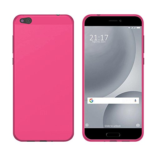 TBOC® Rosa Gel TPU Hülle für Xiaomi Mi 5c - Mi5c (5.15 Zoll) Ultradünn Flexibel Silikonhülle