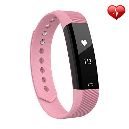 OMORC Fitness Armband, OMORC Bluetooth Fitness Tracker Activity Tracker Sport Armband Aktivitätstracker smart Schlafmonitor, Schrittzähler, Kalorienzähler für iPhone Samsung iOS und Android