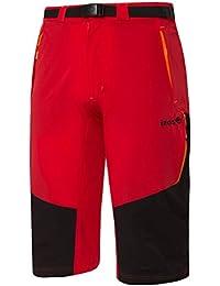 Izas Ospika Pantalones Cortos, Hombre, Rojo/Negro/Naranja, XL