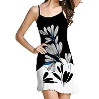 فستان قصير للشاطئ بطباعة رقمية بأشرطة سباغيتي كاجوال للسيدات من GAGA 1 Medium