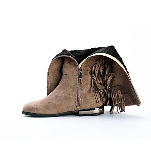 Alexis Leroy , Stivali da equitazione alti classici con nappe donna Taupe