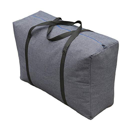 Extra große Faltbare Aufbewahrungstasche,Feuchtigkeit-Beweis-Quilt Taschen tragbare umzug Taschen unter Bett veredelung Taschen gepäck packsack-Grau A 75x50x27CM(30x20x11inch)
