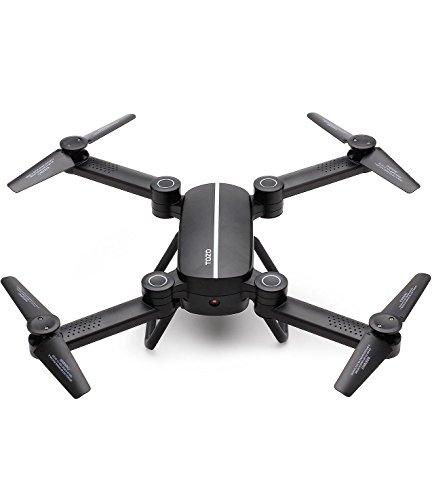 Drone, TOZO Q1012 RC Quadcopter Altitude Tenir Sans Tête RTF 3D 360 Degrés FPV Vidéo Wifi 720P HD Caméra 6 axe 4CH 2.4 Ghz Hauteur Tenir Facile Voler Stable Pour I'apprentissage (Noir)