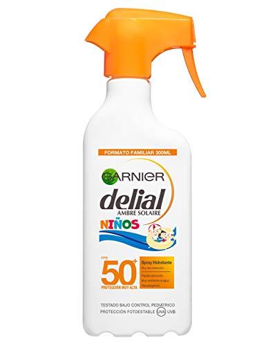 Garnier Delial Protector Solar en Spray para Niños, Alta Protección IP50+ - 300 ml