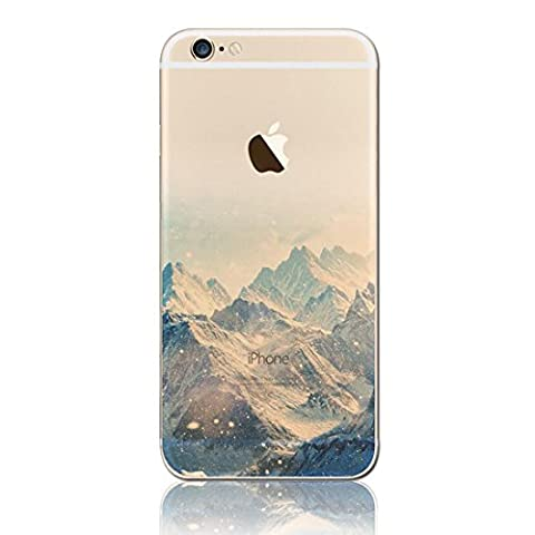 iPhone 5s Case Clear, MAOOY Ultra Slim Soft TPU Silicone Back Cover for iPhone SE, Colorful Pattern Design Landscape Printing Transparent Jelly Protective Case with Scratch Resistant Protective Skin for 4.0