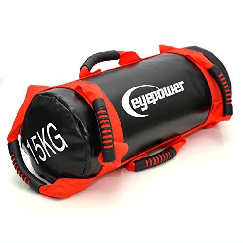 Preisvergleich Produktbild Eyepower 3, 5-15kg Power Bag 18x50cm Sand Gewichtssack Core Sandbag Sandsack Rot
