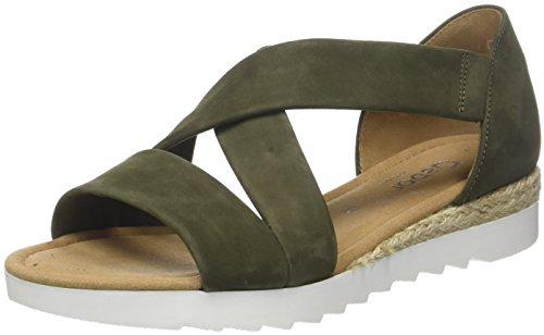 Gabor Shoes Damen Comfort Sport Riemchensandalen, Grün (Salvia (Jute), 37.5 EU