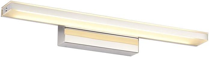LEDMOMO Led Mirror Lamp,Waterproof Anti-Fog Bathroom Lamp Stainless Steel Light Front Bathroom Light Wall Light 12W for Makeup Vanity Dressing Table (Warm White)