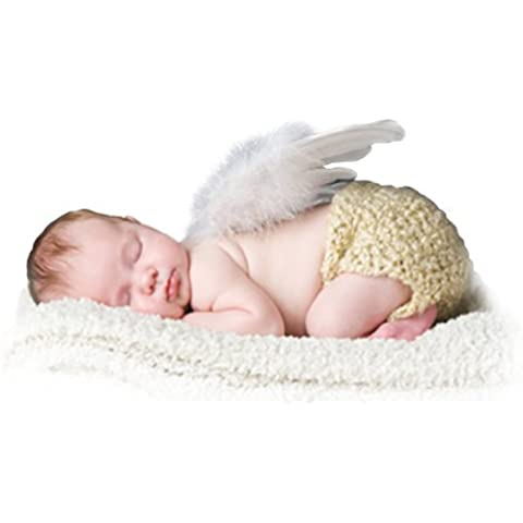 FashionWings (TM) Newborn Baby White Feather Angel Wings, Halo & Poster Set by FashionWings
