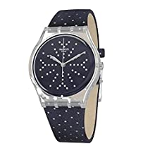 Swatch Womens Analogue Quartz Watch with Textile Strap GE262
