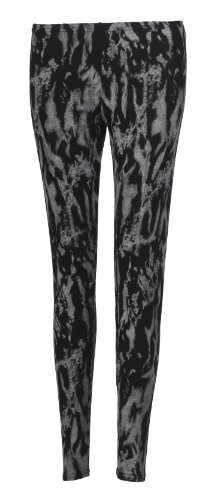 Fast Fashion - Leggings Pleine Longueur Imprimé Animal Tribal - Femme Colorant de cravate gris