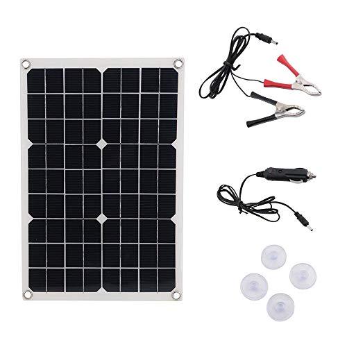 Decdeal Solarpanel Monokristallin 50W Solarmodul 12V / 24V / 10A / 20A / 30A / 40A / 50A Geeignet für Reisen Camping und Wandern