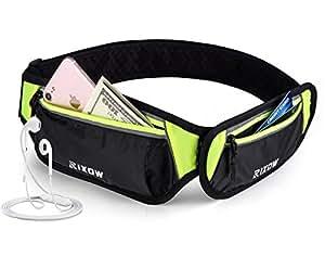 Marsupio da Running,Rixow Running Belt con il Foro per il Cavo Cuffie per iPhone 6S / 6 Plus