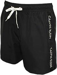 Shorts De Bain Calvin Klein Logo Ruban Masculine, Noirs