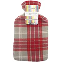 Lightweight Fleece Cover 2L Hot Water Bottle (Red Check) by Country Club preisvergleich bei billige-tabletten.eu