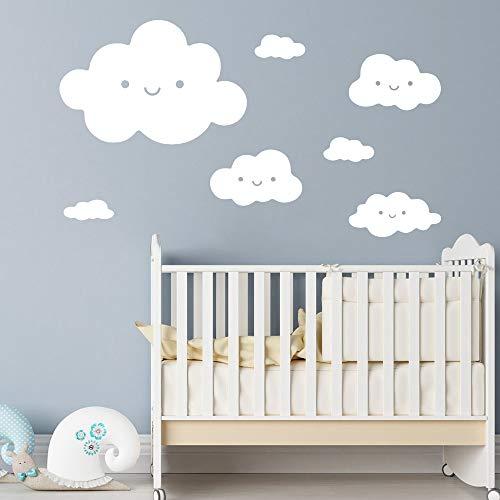 Schöne Wolken Wandaufkleber Wanddekor Dekoration Für Kinderzimmer Kinderzimmer Dekoration Wandtattoos Aufkleber Wandbilder schwarz L 43 cm X 56 cm