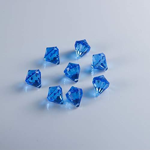 Jane Shop Acryl-Diamanten, 26 mm Acryl-Kunstkristalle, Schatz-Edelsteine mit Loch, 2,5 cm Tisch-Konfetti-Kristalle für Tischkonfetti, Vasenfüller, Party-Dekoration, 120 Stück 26 mm königsblau