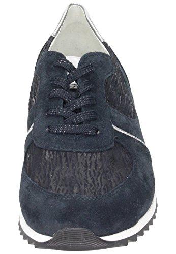 Waldläufer  Waldläufer Damen Schnürer, Chaussures de ville à lacets pour femme bleu bleu Bleu