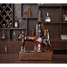JOJur Ornamentos Viejos Antiguos de los Artes, Estante del Vino de la máquina de Coser