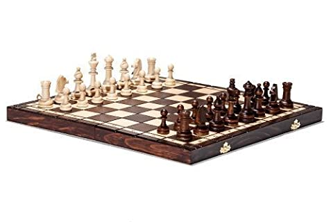 Brand New Hand Crafted Tournament 76 Wooden Chess Set 39cm