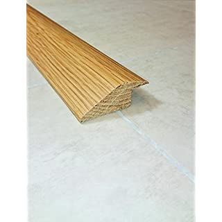 Solid Oak 15mm Ramp Threshold Bar 900mm Long