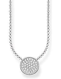 Thomas Sabo Damen-Collier Glam   Soul 925 Sterling Silber Zirkonia weiß  Länge von 40 43080bed4f