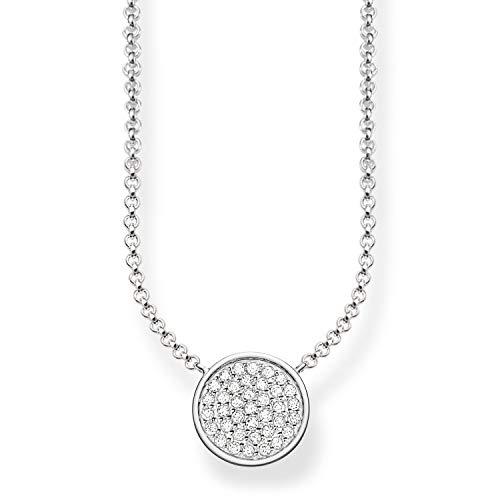 Thomas Sabo Damen-Collier Glam & Soul 925 Sterling Silber Zirkonia weiß Länge von 40 bis 45 cm KE1491-051-14-L45v